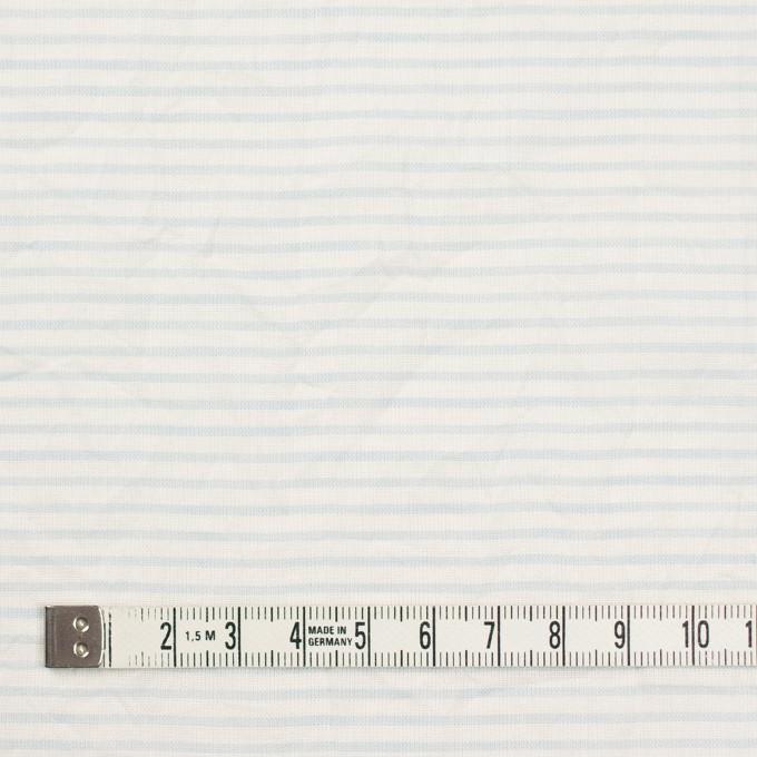 コットン×ボーダー(サックス)×ボイルワッシャー_全2色 イメージ4