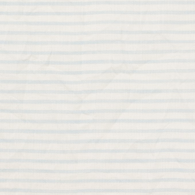 コットン×ボーダー(サックス)×ボイルワッシャー_全2色 イメージ1