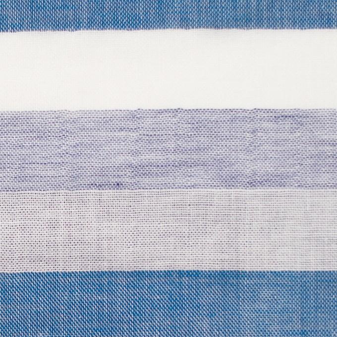 コットン×ボーダー(ブルーミックス)×Wガーゼ イメージ1