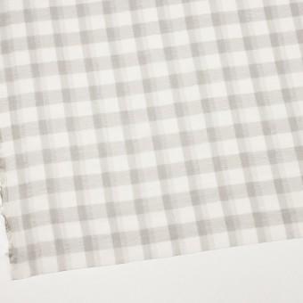 ポリエステル&コットン×チェック(アイボリー&ライトグレー)×空羽ボイル_全3色 サムネイル2