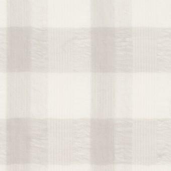 ポリエステル&コットン×チェック(アイボリー&ライトグレー)×空羽ボイル_全3色 サムネイル1