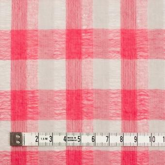 ポリエステル&コットン×チェック(チェリーピンク&ライトグレー)×空羽ボイル_全3色 サムネイル3