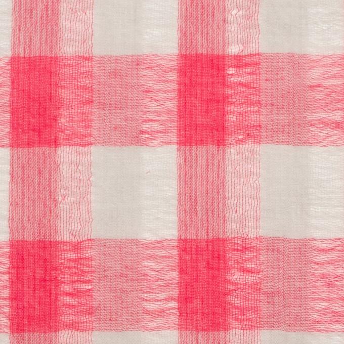 ポリエステル&コットン×チェック(チェリーピンク&ライトグレー)×空羽ボイル_全3色 イメージ1