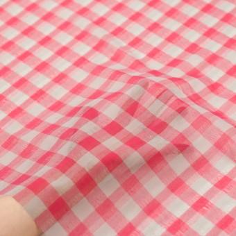 ポリエステル&コットン×チェック(チェリーピンク&ライトグレー)×空羽ボイル_全3色 サムネイル5
