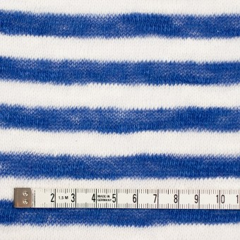 コットン×ボーダー(ブルー)×天竺ニット サムネイル4