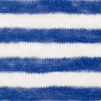 コットン×ボーダー(ブルー)×天竺ニット サムネイル1