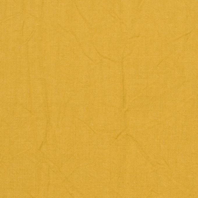 コットン×無地(マスタード)×キャンブリックワッシャー_全15色 イメージ1