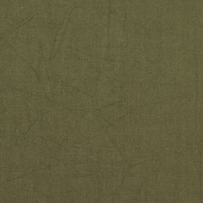 コットン×無地(カーキグリーン)×キャンブリックワッシャー_全15色 イメージ1