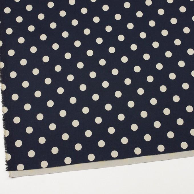 コットン&ポリウレタン×水玉(ダークネイビー&アイボリー)×チノクロス・ストレッチ イメージ2