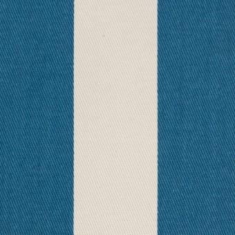コットン×ストライプ(アイボリー&アッシュブルー)×チノクロス