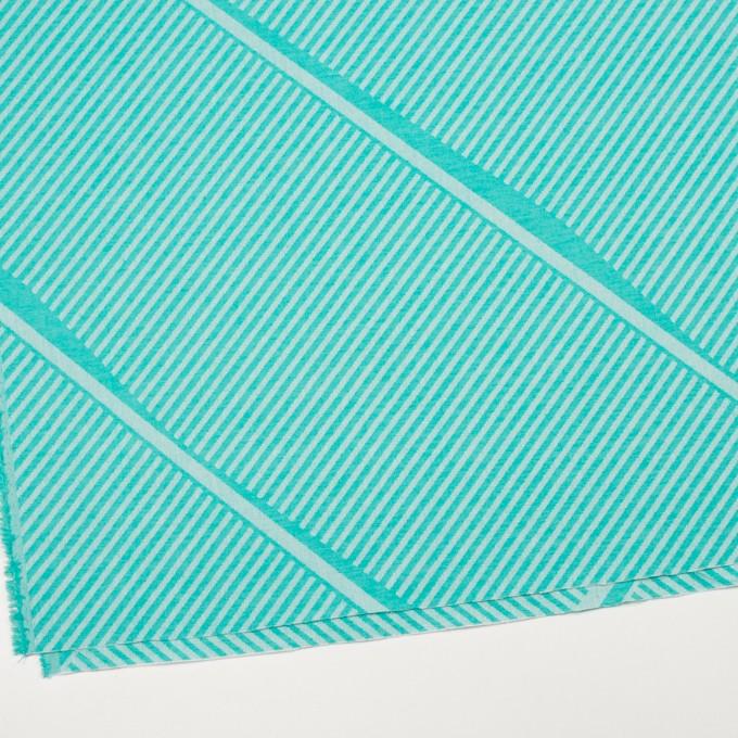 コットン×幾何学模様(エメラルドグリーン)×ジャガード_全2色 イメージ2