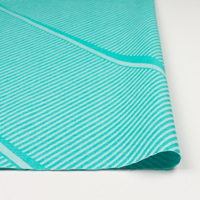 コットン×幾何学模様(エメラルドグリーン)×ジャガード_全2色 イメージ3