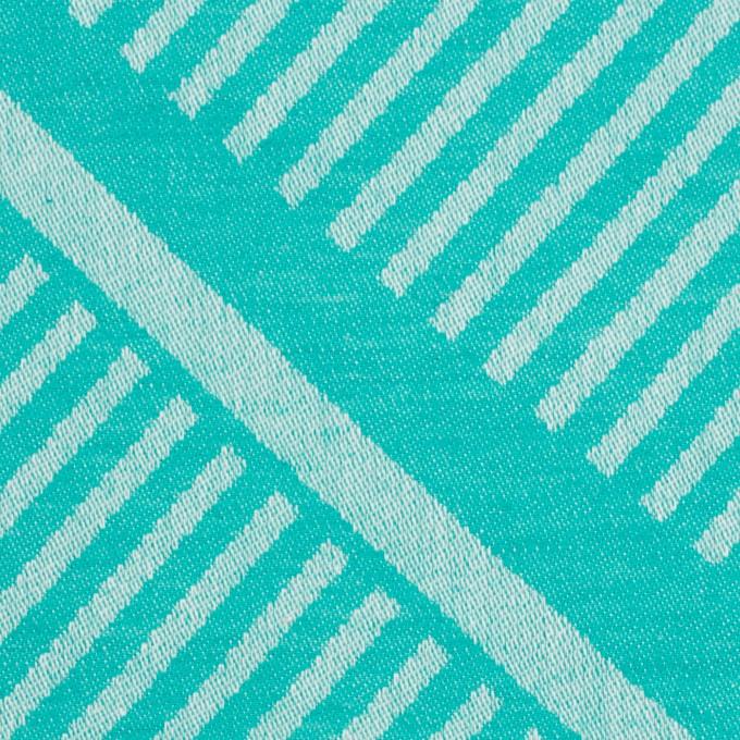 コットン×幾何学模様(エメラルドグリーン)×ジャガード_全2色 イメージ1