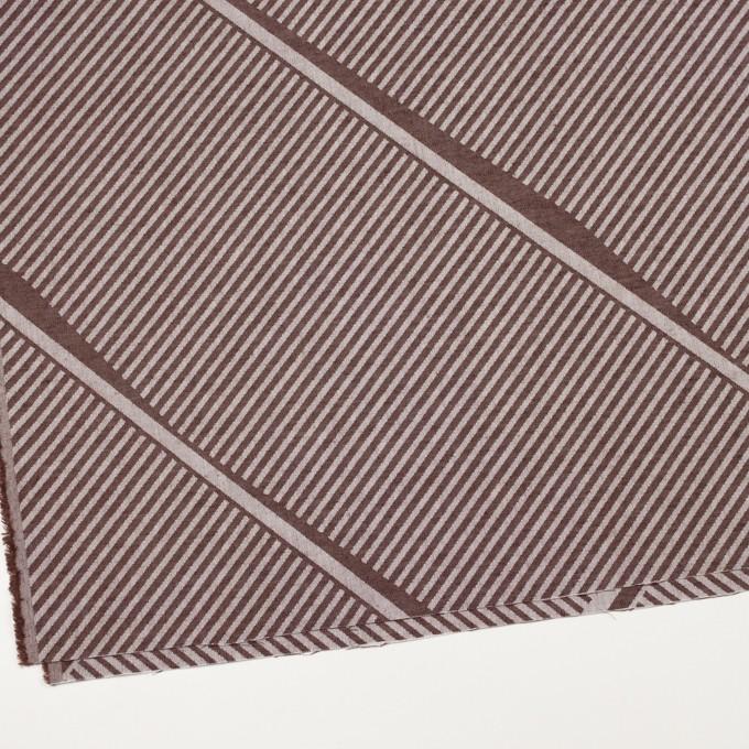 コットン×幾何学模様(ブラウン)×ジャガード_全2色 イメージ2