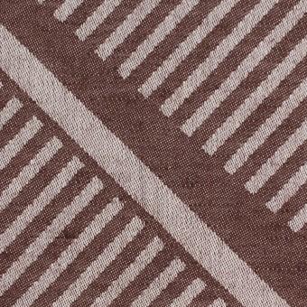 コットン×幾何学模様(ブラウン)×ジャガード_全2色 サムネイル1