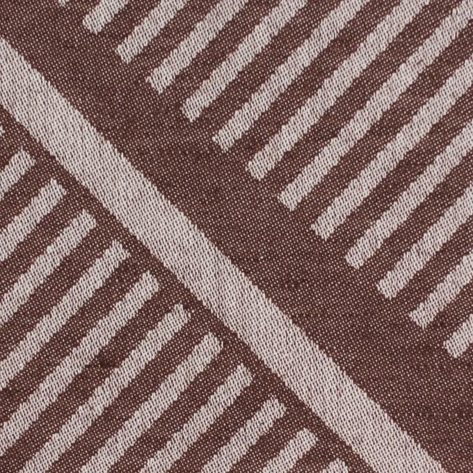 コットン×幾何学模様(ブラウン)×ジャガード_全2色 イメージ1