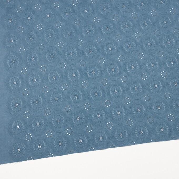 コットン×フラワー(スモークブルー)×ローン刺繍_全6色 イメージ2