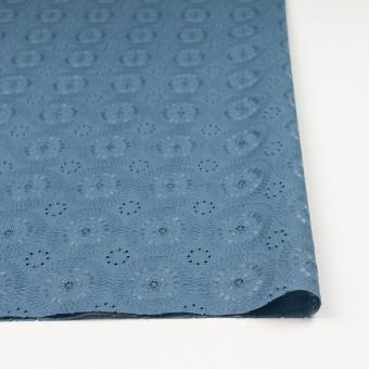 コットン×フラワー(スモークブルー)×ローン刺繍_全4色 サムネイル3