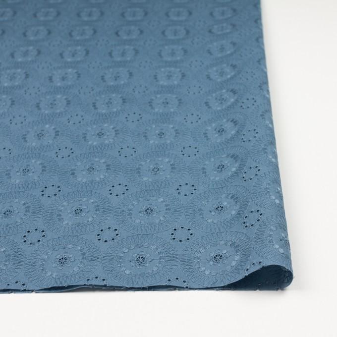 コットン×フラワー(スモークブルー)×ローン刺繍_全4色 イメージ3