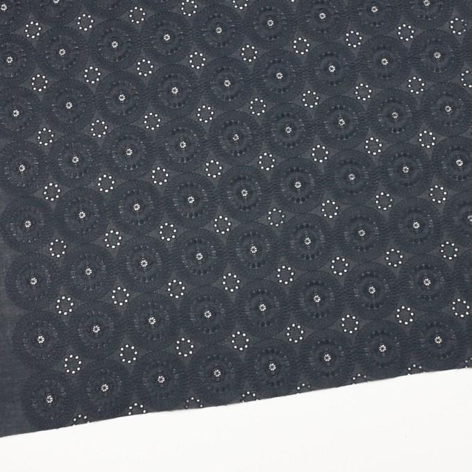 コットン×フラワー(チャコール)×ローン刺繍_全4色 イメージ2