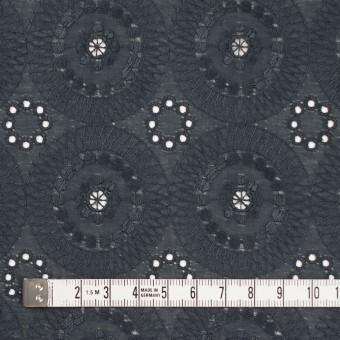 コットン×フラワー(チャコール)×ローン刺繍_全6色 サムネイル4