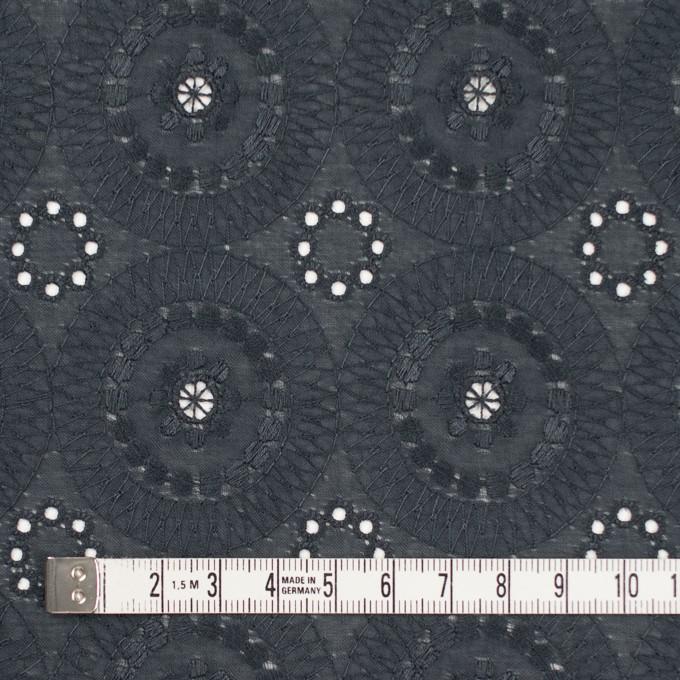 コットン×フラワー(チャコール)×ローン刺繍_全4色 イメージ4