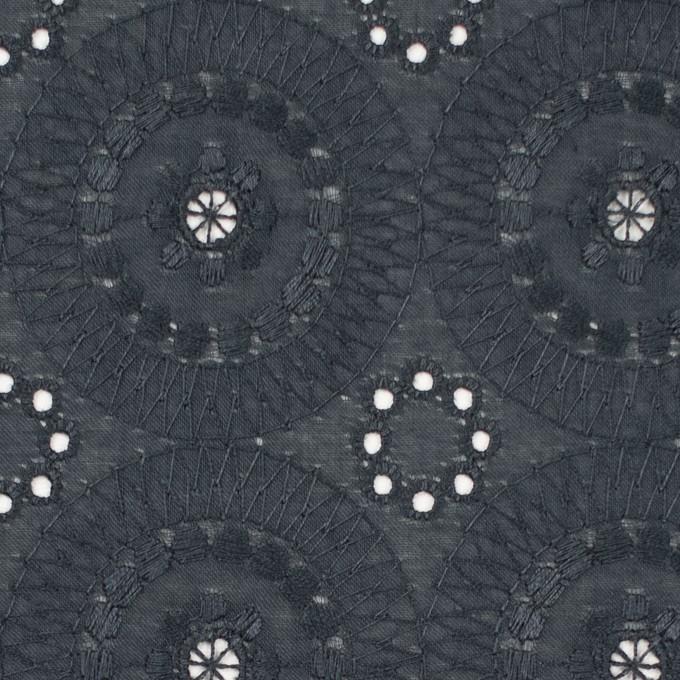コットン×フラワー(チャコール)×ローン刺繍_全4色 イメージ1
