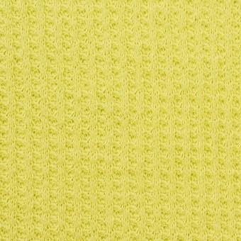 コットン×無地(ライムグリーン)×ワッフルニット_全3色