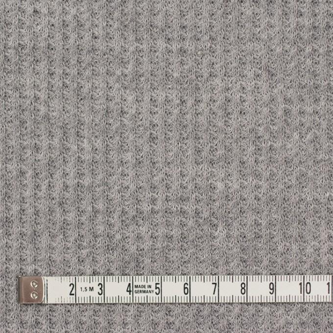 コットン×無地(グレー)×ワッフルニット_全3色 イメージ4