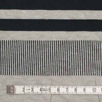 モダール&ポリエステル混×ボーダー&ストライプ(ミントグレー&ブラック)×天竺&リブニット サムネイル4