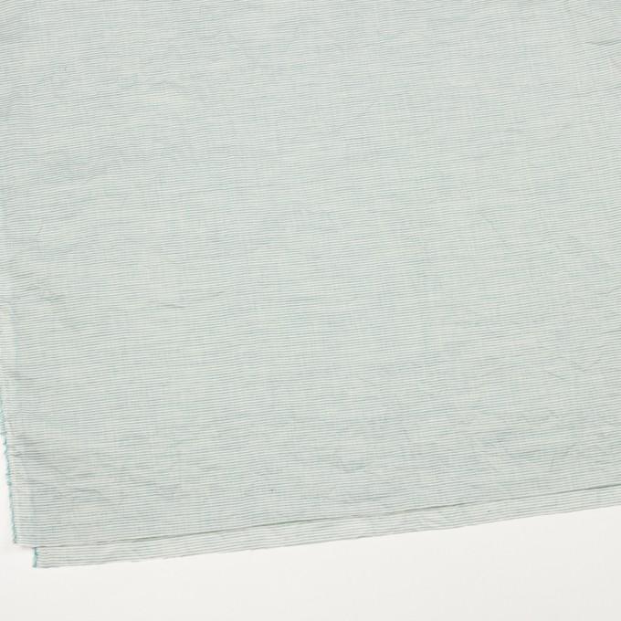 コットン&リネン×ボーダー(シーグリーン)×ボイルワッシャー_全3色 イメージ2