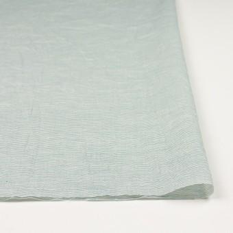 コットン&リネン×ボーダー(シーグリーン)×ボイルワッシャー_全3色 サムネイル3