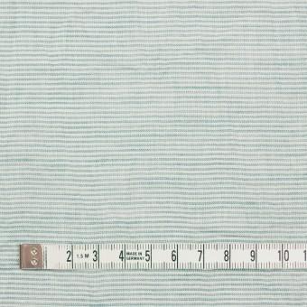コットン&リネン×ボーダー(シーグリーン)×ボイルワッシャー_全3色 サムネイル4