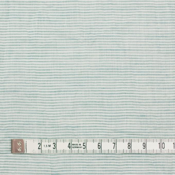 コットン&リネン×ボーダー(シーグリーン)×ボイルワッシャー_全3色 イメージ4