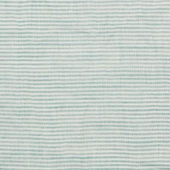 コットン&リネン×ボーダー(シーグリーン)×ボイルワッシャー_全3色