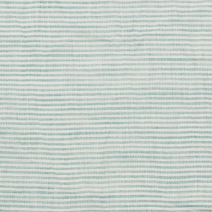 コットン&リネン×ボーダー(シーグリーン)×ボイルワッシャー_全3色 イメージ1