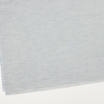 コットン&リネン×ボーダー(シャドウブルー)×ボイルワッシャー_全3色 サムネイル2