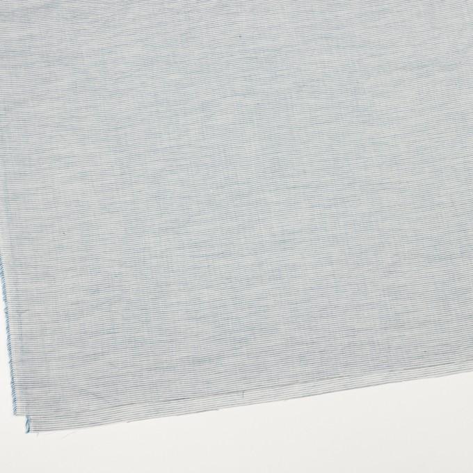 コットン&リネン×ボーダー(シャドウブルー)×ボイルワッシャー_全3色 イメージ2