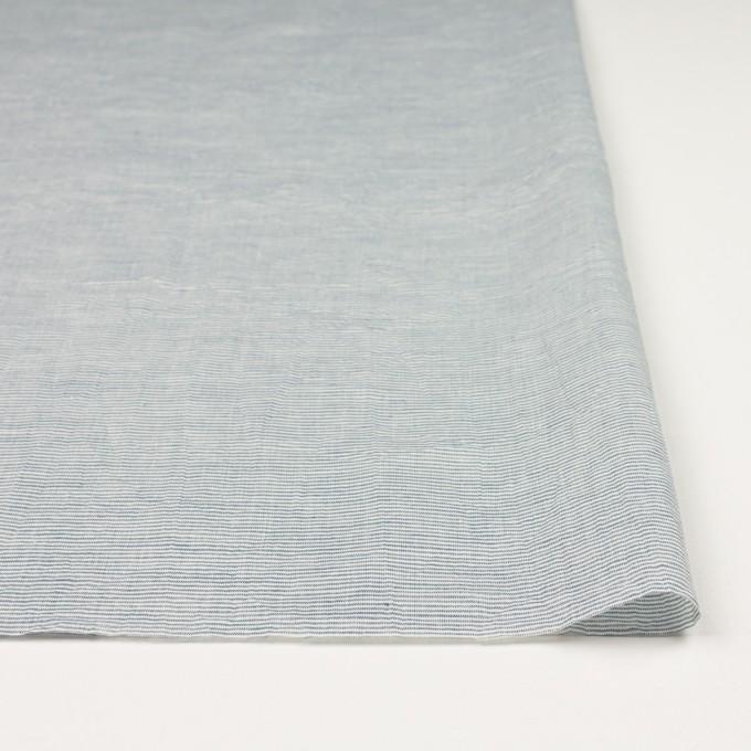 コットン&リネン×ボーダー(シャドウブルー)×ボイルワッシャー_全3色 イメージ3