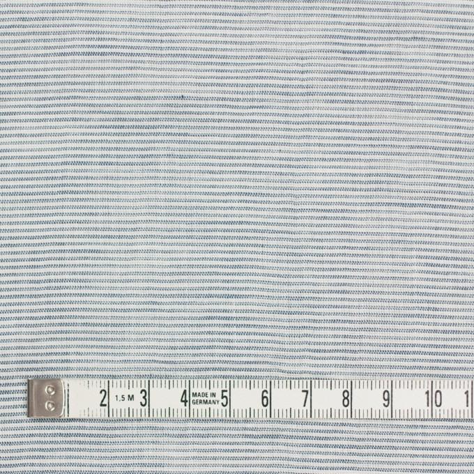 コットン&リネン×ボーダー(シャドウブルー)×ボイルワッシャー_全3色 イメージ4