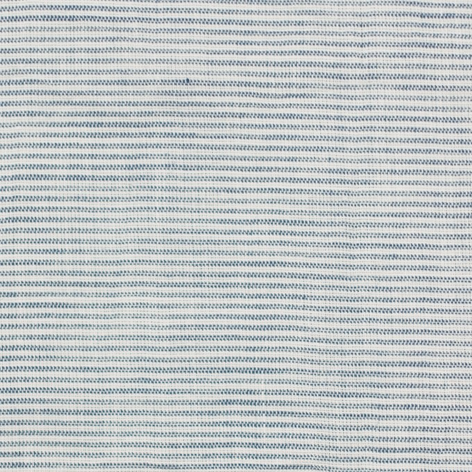 コットン&リネン×ボーダー(シャドウブルー)×ボイルワッシャー_全3色 イメージ1