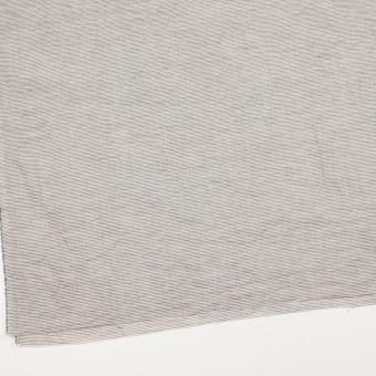 コットン&リネン×ボーダー(ブラック)×ボイルワッシャー_全3色 サムネイル2