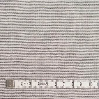 コットン&リネン×ボーダー(ブラック)×ボイルワッシャー_全3色 サムネイル4
