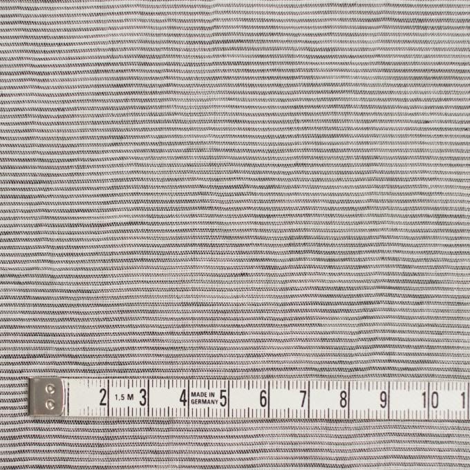 コットン&リネン×ボーダー(ブラック)×ボイルワッシャー_全3色 イメージ4