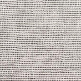コットン&リネン×ボーダー(ブラック)×ボイルワッシャー_全3色