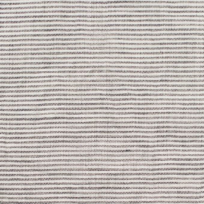 コットン&リネン×ボーダー(ブラック)×ボイルワッシャー_全3色 イメージ1