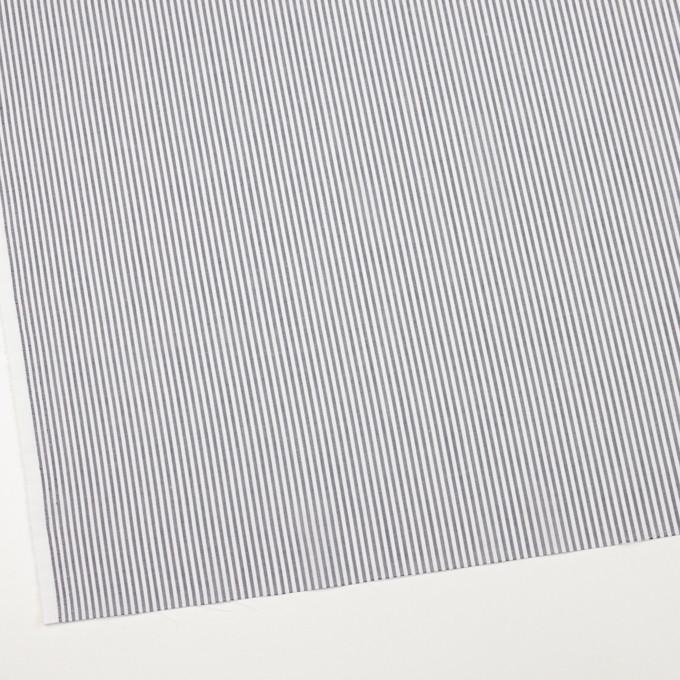 コットン&リネン×ストライプ(チャコール)×ボイル イメージ2
