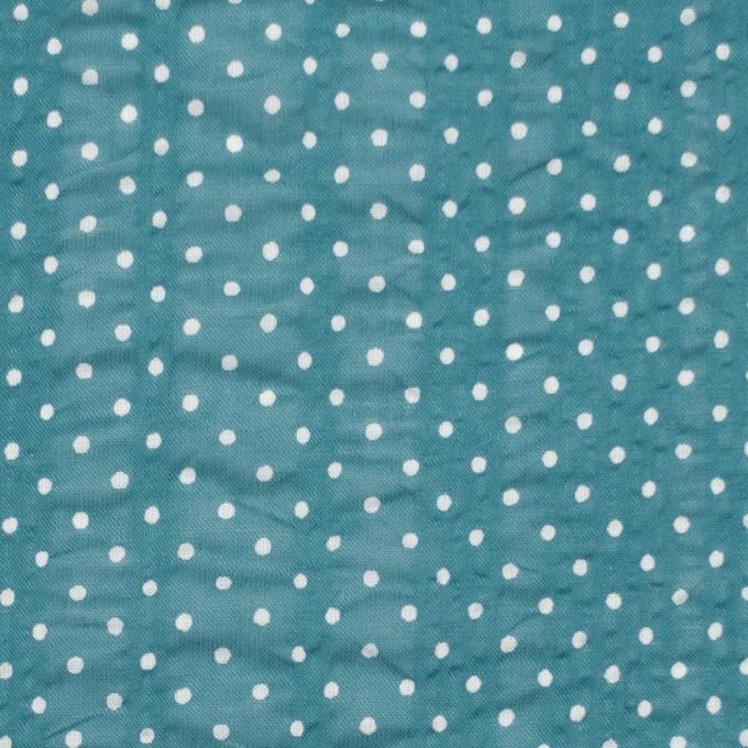 コットン×ドット(エメラルドブルー)×ボイルサッカー_全3色 イメージ1