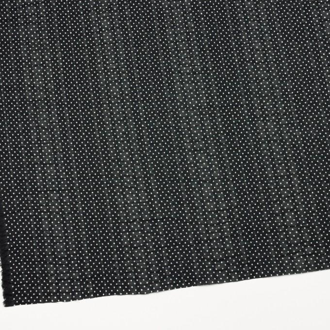 コットン×ドット(ブラック)×ボイルサッカー_全3色 イメージ2