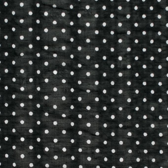 コットン×ドット(ブラック)×ボイルサッカー_全3色 イメージ1